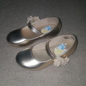 Disney princess ballet flats with glitter heel